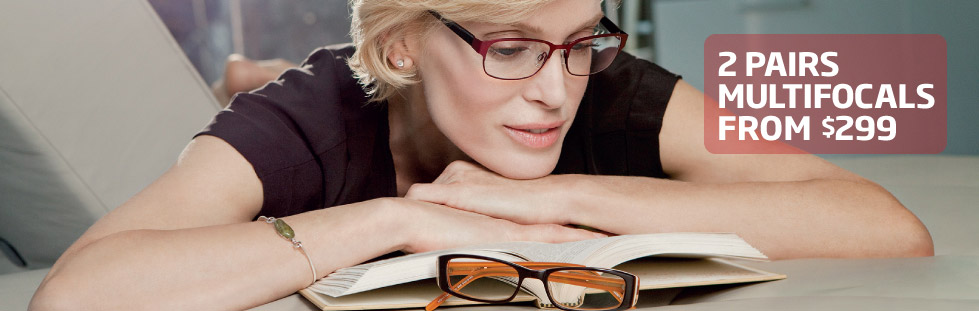 2 Pairs Multifocals from $299